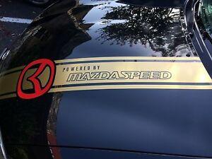 For Mazda 3, 5, 6 CX5 CX9 CX7 RX7 RX8 Mx5 Miata Mazda 6 Universal Hood Stripes