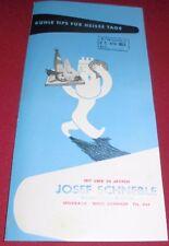 prospekt alt blatt  aeg ,saba,alaska,elektrolux kühlschrank 1953 reklame werbung