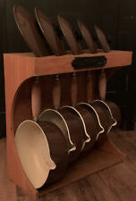Le Crueset Cast Set (1980s)  With Wooden Storage Stand