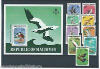 Maldive Islands - Maldives colorful mnh stamp set and sheet - birds
