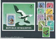 Maldive Islands - Maldives colorful mnh stamp set and sheet - birds