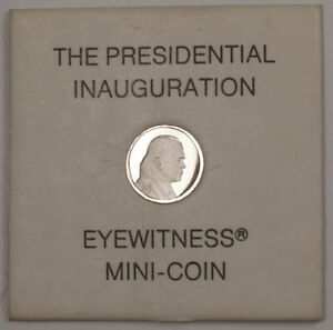 The 1974 Presidential Inauguration Eyewitness Proof Mini Medal Platinum G Ford