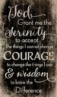 Serenity Prayer Black and White Distressed 24 x 14 Wood Pallet Wall Art Plaque
