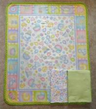 Nursery Crib Quilt/Sheet Set/Handmade - Baby Block And Toys -Pastel Green