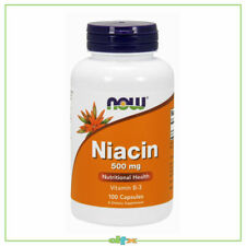Now Foods Niacin Vitamin B-3 Essential B-group Vitamin 500 mg 100 Caps