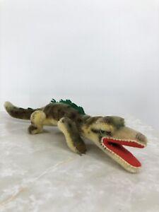"Vintage Steiff ""Gaty"" Alligator Crocodile Brown & Green 13"" Long No IDs"