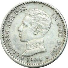 T4353 Espagne 50 Cents 1904 Alfonso XIII Argent Silver -> Faire offre
