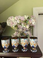 Antique Russian Silver 84 Enamel Beaker Vodka Cup