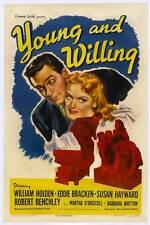YOUNG AND WILLING Movie POSTER 27x40 William Holden Eddie Bracken Robert