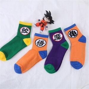 4 Pairs Anime Dragon Ball Z Socks Men Women Cotton Winter Soft Sport Socks