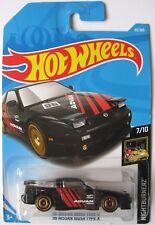 Hot Wheels 1996 Nissan 180SX Type X Black Diecast Car 1:64 Scale on Card, 240SX