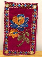 Fatto a Mano Rajasthani Ethnic Indiano Ricamato Mobile Pouch SLEEVE