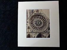 C1885 Original Phot of the Marigold Window, South Transept York Cathedral
