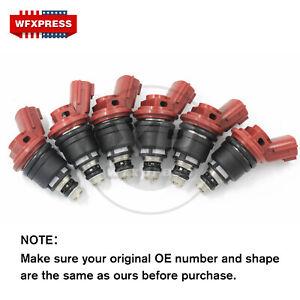 NEW 6 Pcs Fuel Injectors For Infiniti I30 96-99 Nissan Maxima 92-99 1660096E01
