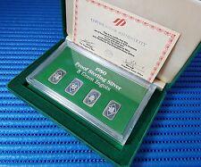 "1980 Singapore Mint's ""福禄寿禧"" Proof Sterling Silver 4X 5 Gram Ingots"