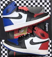 "VNDS Nike Air Jordan 1 I Retro High OG ""Top 3"" Sz. 4y Bred Shadow Royal Travis"