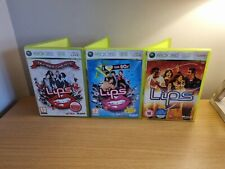Xbox 360-Lippen Game Bundle-Lips 1, 1 Liebe die 80's, Number One Hits Free p&p