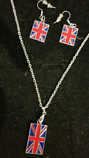 UNION JACK NECKLACE AND EARRING SET, CHRISTMAS, BIRTHDAY AND MORE