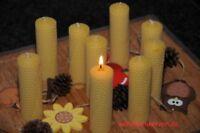 9 x Bienenwachskerzen L 100 % Bienenwachs Kerzen 110 x 32mm Handarbeit aus DE