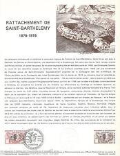 DOC. PHILATÉLIQUE - RATTACHEMENT - 1978 YT 1985