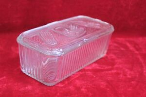 Glass Spice Box Old Vintage Antique Kitchenware Collectible PL-23