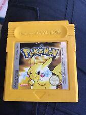 Pokemon Yellow Gameboy Juego CARTUCHO solo Nintendo.. sin probar..