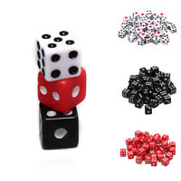 50pcs Dices Gaming Dice Standard Six Sided Dice Birthday Parties Board Game 3C