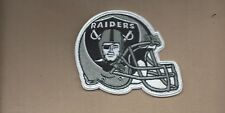 NEW 3 1/4 X 4 INCH OAKLAND RAIDERS HELMET IRON ON PATCH FREE SHIPPING