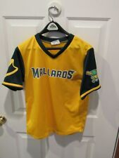 Madison Mallards Baseball Jersey boy's Size large Minor Leagues MILB yellow
