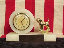 "Vintage 1960s Maryland Beagle Club 1st Place Award Trophy Clock Marble 4.5"" Tall"