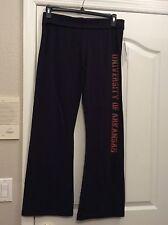 SOFFE Arkansas Razorbacks Black Lounge Pants. Sparkly Letters. Sz Junior Lg. NEW