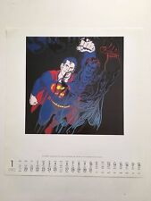 ANDY WARHOL,SUPERMAN,1981,RARE AUTHENTIC PRINT FROM 1992 TE NEUES CALENDAR