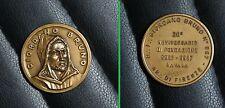 Medaglia massoneria in bronzo di Giordano Bruno