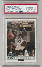 1992 CLASSIC DRAFT PICK #/500 SHAQUILLE ONEAL AUTO RC PSA 10 HOF POP 1