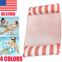 US 2020 Swimming Pool Toy Hammock Lounge Inflatable Water Floating Bed Mat Chair