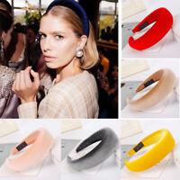 Fashion Women's Girl Padded Velvet Headband Multicolor Hairband Hair Decor Gifts