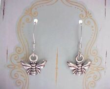 Silver Tiny Honey Bee Earrings Charms French Appiary Gift ASOS Free Wrap Card