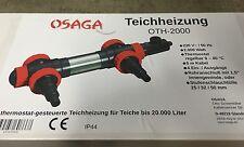 Osaga Teichheizung Teichheizer Eisfreihalter 2000 Watt 2 KW V2A Edelstahlgehäuse