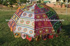 Garden Big Size Umbrella Beach Party Decor Cotton Gypsy Parasol Patio Sun Shade