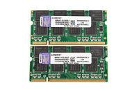 Kingston 2GB 2X1GB DDR PC2700S 333MHZ 200Pin 2.5V SO-DIMM For RAM Laptop Memory