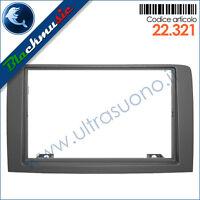 Mascherina supporto autoradio 2ISO-2DIN Fiat Idea (2003-2012) colore grigio