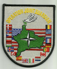 OPERATION JOINT GUARDIAN NATO CONTINGENCY RESPONSE FORCE KOSOVO MILITARY PATCH