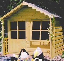 Garden Wooden Shed Playhouse 5 x 4' + 1' 1490mm x 1190mm +305mm canopy 'Kitty'