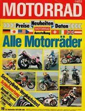 M7919 + KAWASAKI Z 1300 vs. HONDA CBX vs. BENELLIi Sei + MOTORRAD 19 1979