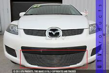 GTG 2007 - 2009 Mazda CX7 1PC Polished Overlay Bumper Billet Grille Grill