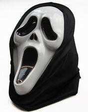 Ghost Horror SCREAM Face Costume Makeup Halloween Fancy Dress Black White Mask