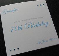 Personalised Handmade Birthday Card-Dad Grandad Son Nephew Grandson ANY AGE (G7)
