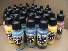 VALLEJO MODEL AIR ACRYLIC AIRBRUSH PAINTS CHOOSE ANY 30