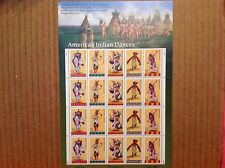 SCOTT 3076A SHEET AMERICAN INDIAN DANCERS .32c STAMPS NEAR MINT MINT CONDITION