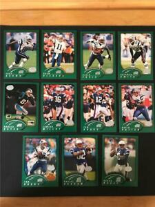 2002 Topps Collection New England Patriots Team Set 11 Cards Tom Brady 1st Topps